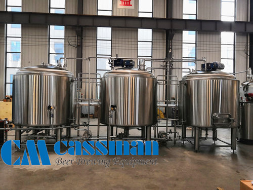 1000L 3 Vessels Stainless Steel Brewhouse